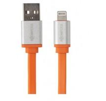 Cable BOOMPODS Flatline Naranja 1M Apple