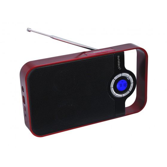 Radio SUNSTECH RPDS250 Roja USB Mp3