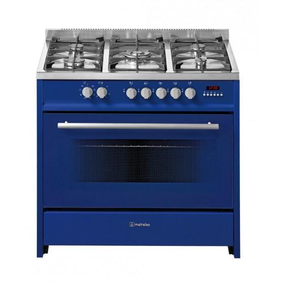 Cocina Gas y Eléctrica MEIRELES E911BUNAT Azul nat