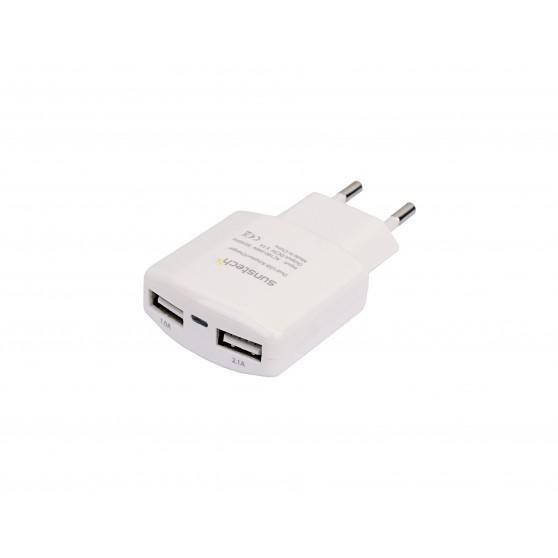 Cargador SUNSTECH ACU30WT Cargador USB Dual