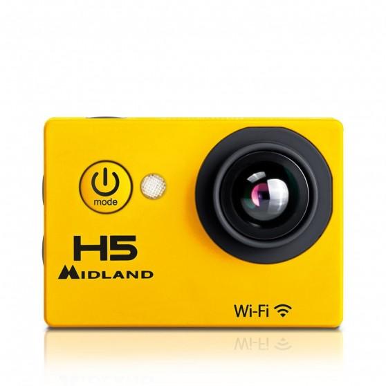 ActionCam Midland H5 Acuática Wifi Amarillo