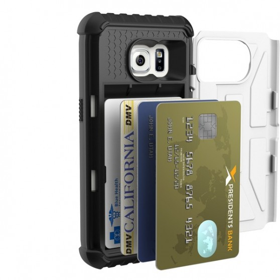 Funda UAG Galaxy S7 Card Case Blanco