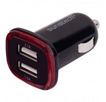 Cargador SUNSTECH DCU10BK USB Coche Dual