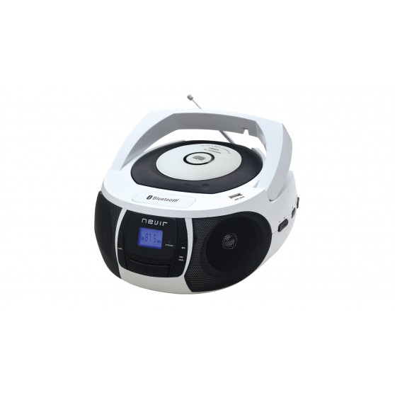 Radio CD - NEVIR NVR481 MP3 Bluetooth Bco
